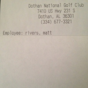 Matt Rivers Dothan National Golf Club & Hotel