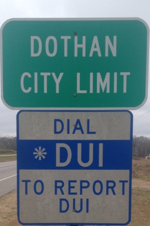 Dothan City Limit Dial *DUI to report DUI