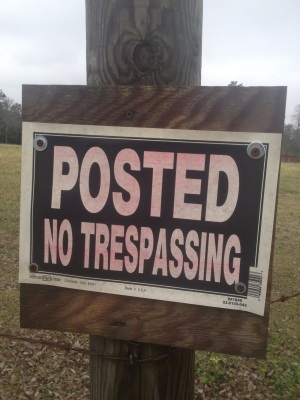Posted No Trespassing Houston County Alabama