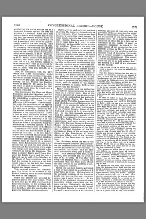 UNITED STATES OF AMERICA Congressional Record PROCEEDINGS AND DEBATES OF THE 78th CONGRESS FIRST SESSION VOLUME 89-PART 2 MARCH 27 1943 CONGRESSIONAL RECORD-HOUSE (PAGE 2579) UNITED STATES GOVERNMENT PRINTING OFFICE WASHINGTON 1943 pg. 2579 1943 CONGRESSIONAL RECORD-HOUSE 2579