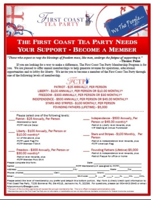 First Coast Tea Party Inc. (@FCTeaParty) Florida FCTP