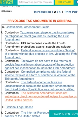 Internal Revenue Service (I.R.S. @IRSnews) Frivolous Taxpayer 7