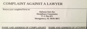 Complaint Against a Lawyer