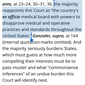 "the majority reappoints this Court as  ""the country's ex officio medical board with powers to disapprove medical and operative practices and standards throughout the United States"""