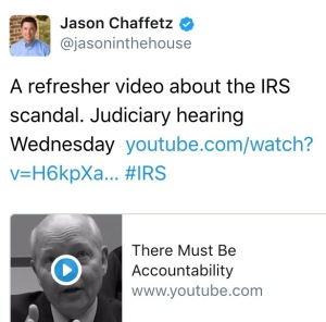 Jason Chaffets @JasonInTheHouse IRS #IRS Internal Revenue Service John Koskinen