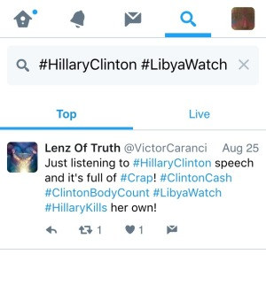 Twitter (@Twitter) #HillaryClinton #LibyaWatch SEARCH