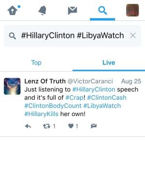 Twitter (@Twitter) #HillaryClinton #LibyaWatch SEARCH:  Live